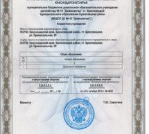 Лицензия МБДОУ ДС №10